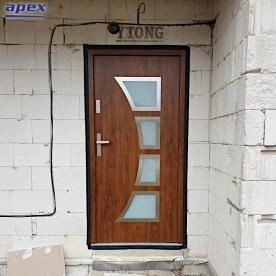 Dvere vonkajšie, kovové