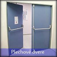 Plechové dvere