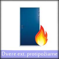 Vonkajšie vchodové dvere protipožiarne