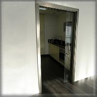 Zásuvné celosklené dvere do steny